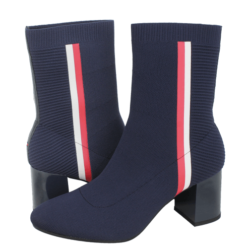 Μποτάκια Tommy Hilfiger Knitted Heeled Boot