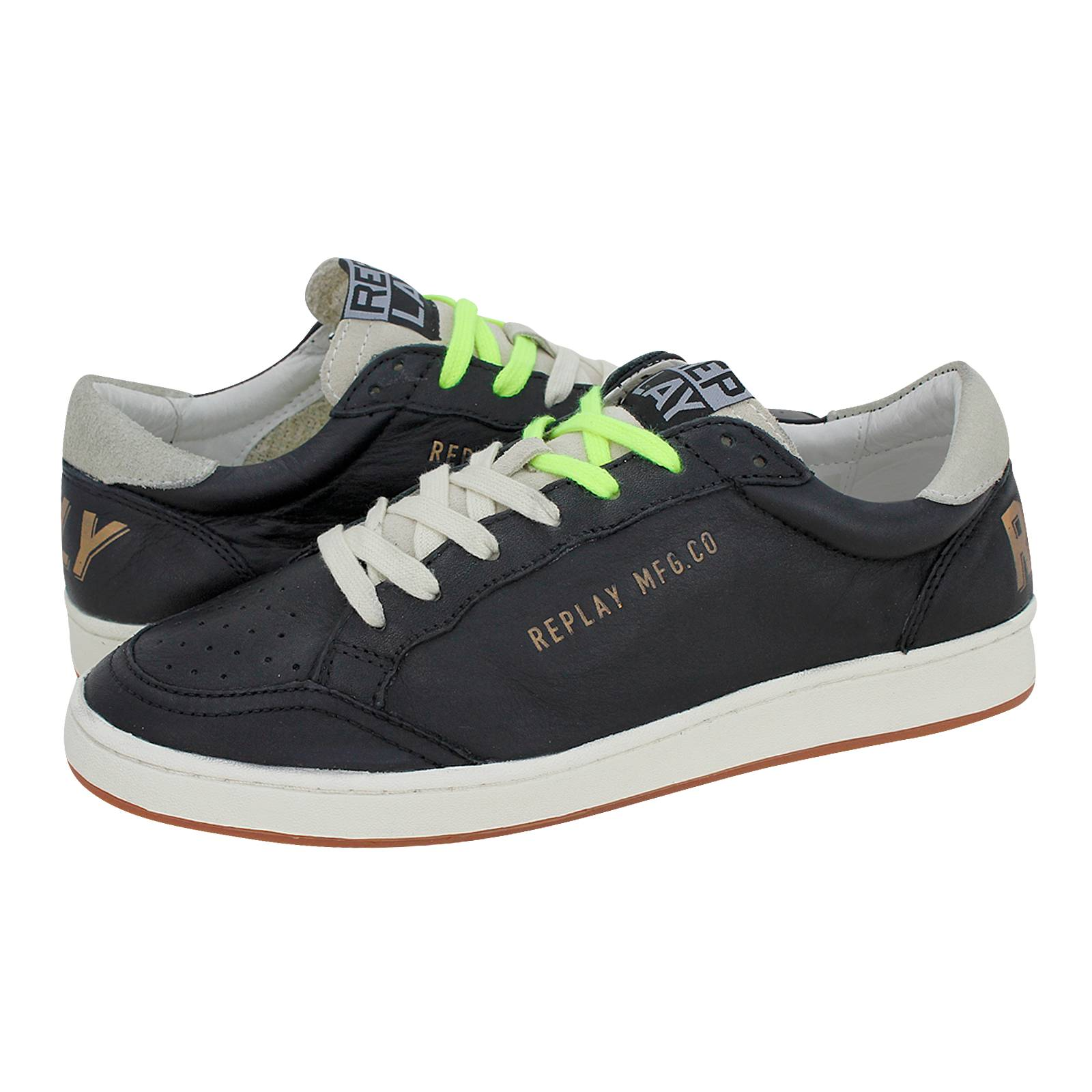4e2c155e5ee Chenu - Ανδρικά παπούτσια casual Replay από δέρμα - Gianna Kazakou ...